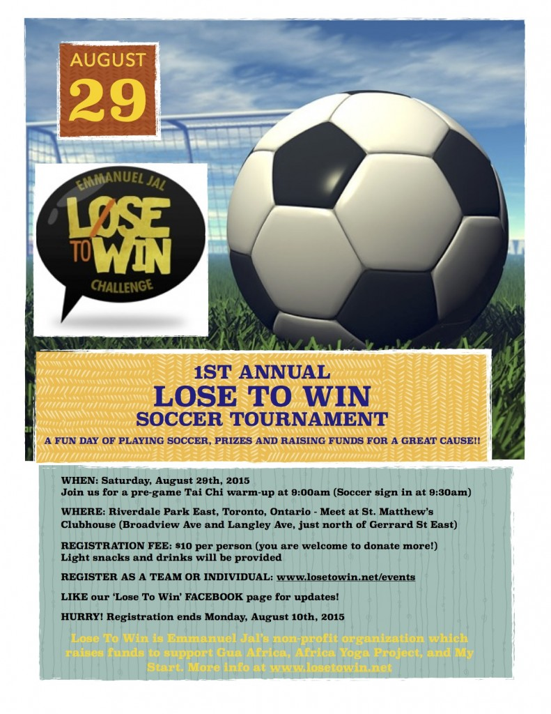 Lose To Win soccer tournament. pages